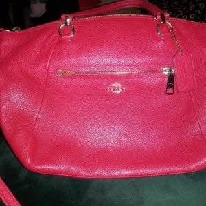 Coach Kelsey (small) in red pebble leather